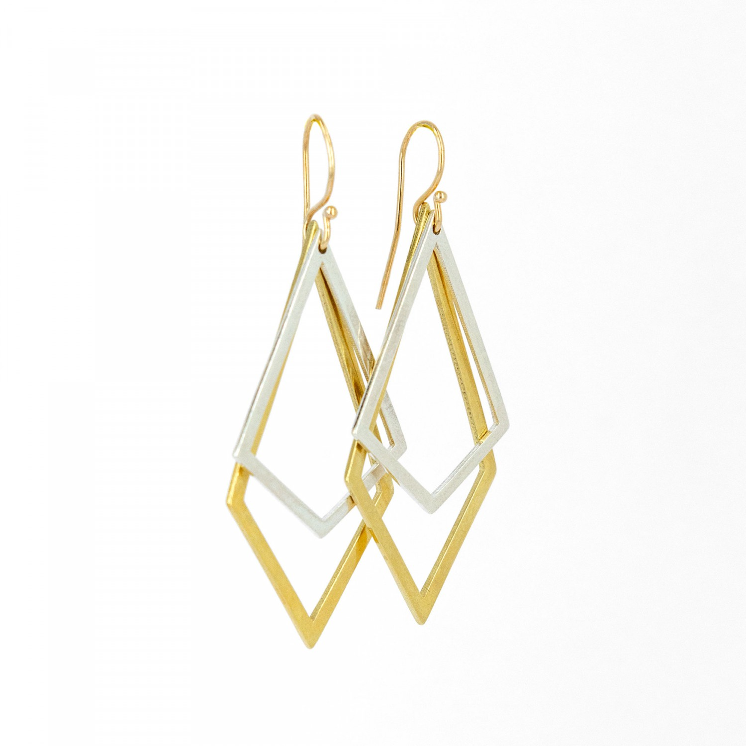 Two Rhombus Earrings