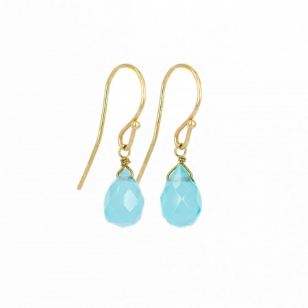 Gemstone Teardrop Dangle Earrings