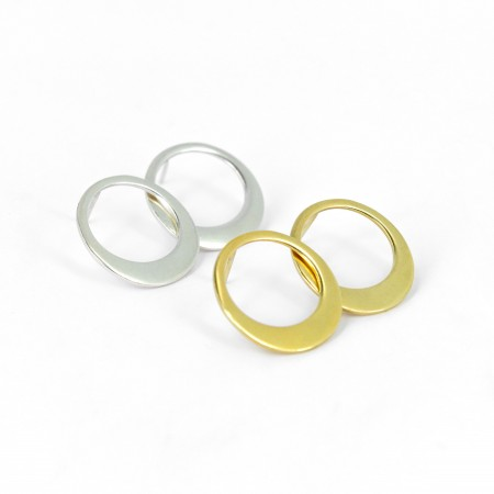 Asymmetric Circle Earrings