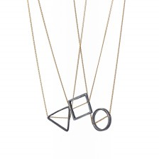 Black Square Necklace