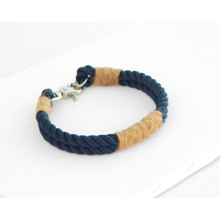 Navy Blue Rope Dog Collar