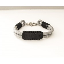 Gray and Black Rope Dog Collar