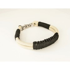 Beige and Black Rope Dog Collar
