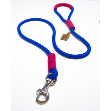 Blue & Hot Pink Rope Dog Leash