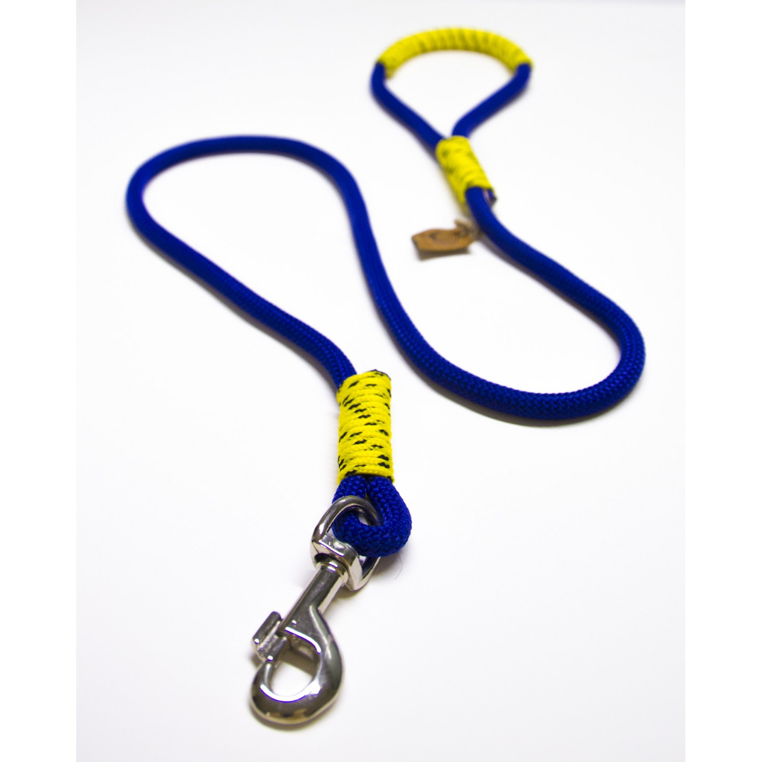 Blue & Yellow Rope Dog Leash