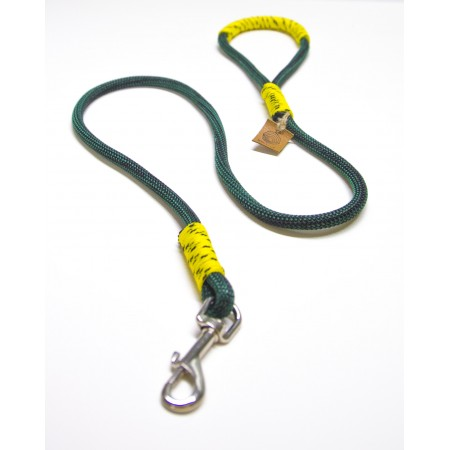 Green & Yellow Rope Dog Leash