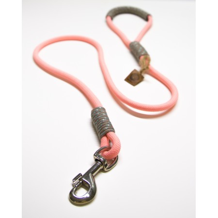 Pink & Gray Rope Dog Leash