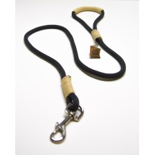Charcoal Gray and Beige  Rope Dog Leash