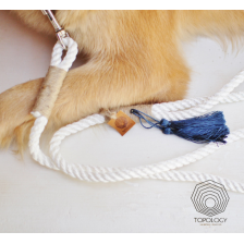 White Nautical Rope Dog Leash