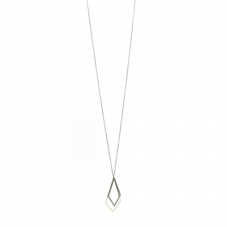 Double Diamond Shape Necklace