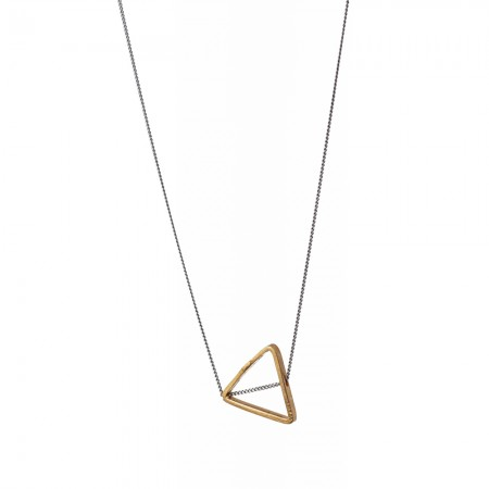 Gold Open Triangle Necklace