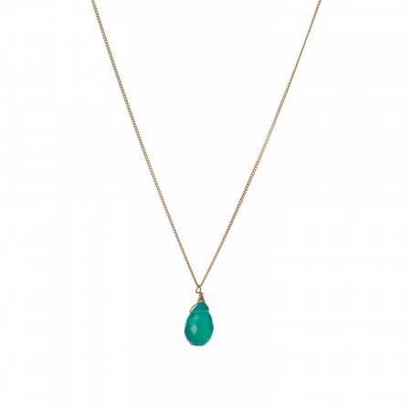 Green Onyx Drop Necklace