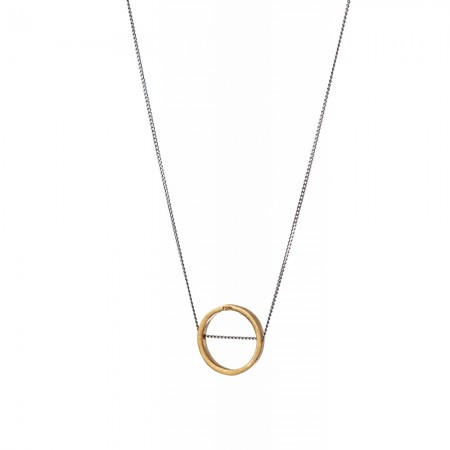 Gold Open Circle Necklace