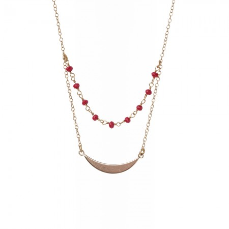 Double Layered Rosary and Smile Necklace