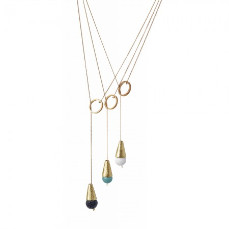Gold Cone Tie Necklace