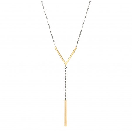 V & ID Bar Y Necklace