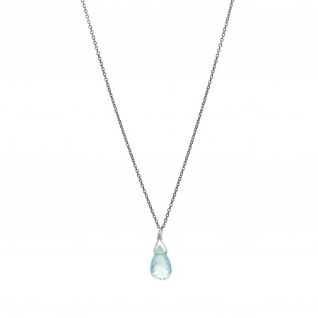 Aquamarine Drop Necklace