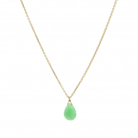Chrysoprase Drop Necklace