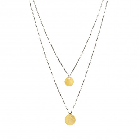 Double Layered Disk Necklace