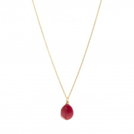 Red Ruby Drop Necklace
